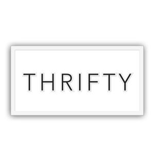 """Accessories - COMING SOON - Custom Thrifty Lapel Pin 1"""" x 0.5"""""""